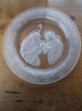 Vtg American Art Glass MORGANTOWN CRYSTAL Christmas Plate Star of Bethlehem 1st