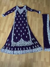 Custom Made Anarkhali Wedding Gharara Jilbab Salwar Kameez Abaya Lengha Purple