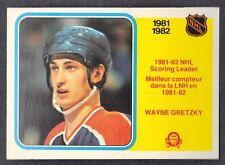 Wayne Gretzky 1982 O-PEE-CHEE scoring leader hockey card # 243