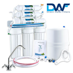 6 Stage 100GPD Reverse Osmosis System - Mineral Drinking Water RO Unit