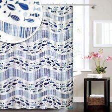 Blue Canyon Acqua Nautical Fish Shower Curtain 180cm x 180cm