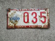 Phillippines 1999 motorized Tricycle Permit sidecar license plate #    35