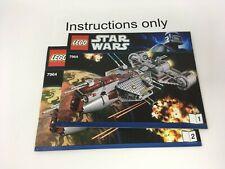 ONLY instructions books 1-2 Lego 7964 Republic Frigate Star Wars; no bricks