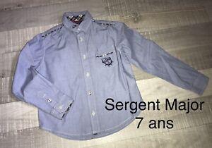 Sergent Major 7 ANS Garçon: Chemise Bleue TBE