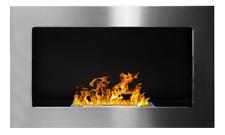 65 gel- et cheminée à l'éthanol acier inoxydable brossé Poêle à Bioéthanol