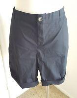Lane Bryant Plus Size Stretch Cotton Twill Shorts Cuffed Black Size 26 NWT