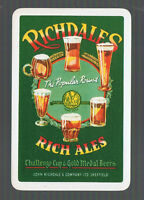 Playing Swap Cards 1 GENUINE VINT  BEER/BREWERY ADVT  RICHDALE'S  RICH ALE  #216
