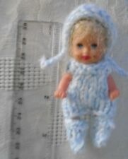 """Doll Clothes 3 pc Outfit for Mini Maby Polymer Clay Artist ooak or Krissy 2.5"""""""