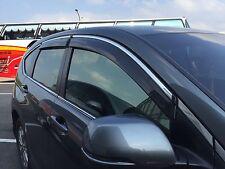 Window Shade Sun Visor W/Chrome Stripe For '2012-2016 HONDA CRV OE STYLE