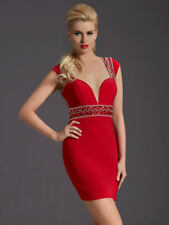 G2200-3) CLARISSE 126786 RED SZ 2, 4, 6, OR 10 $199 PROM HOMECOMING DRESS GOWN