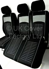 FIAT DUCATO PEUGEOT BOXER CITROEN RELAY VAN SEAT COVERS  TAILORED P40GY In stock