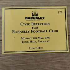 Barnsley FC civic Reception Invite 1997