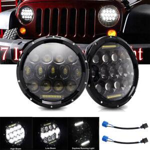 """2X Dot 7"""" In 280W Round New LED Headlight DRL For Jeep Wrangler JK TJ CJ LJ JL"""