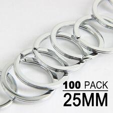100pcs 25mm Metal Loop Key Holder Split Rings Keyring Keychain Accessories