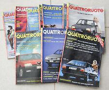QUATTRORUOTE ANNATA ANNO 1987 10 NUMERI LOTTO RIVISTA MENSILE AUTO VINTAGE