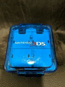 Nintendo 3DS 2DS DS Compact Game Case Clear Blue Storage 16 Cards Travel Pack
