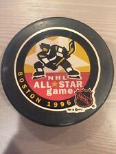 1996 NHL All Star Game Souvenir Hockey Puck Boston Bruins InGlasCo