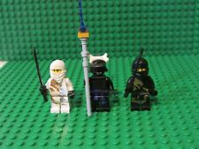 Lot of 3 LEGO Ninjago minifigures ZANE COLE DX Dragon Lord Garmadon minifigs ZKG