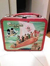 Walt Disney Mickey Mouse Club Metal Lunchbox