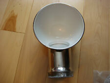 """2- SAILBOAT DORADE COWL VENTS STAINLESS STEEL 5"""" x 14"""" W/ Deck Plate NEW Pair"""
