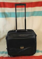 LODIS Leather Rolling LAPTOP Bag VG Cond $350.00 Retail