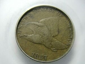 1857 Flying Eagle Cent S3 (Snow 3) DDO- 8 Nice Mid Grade Coin Others Now Up