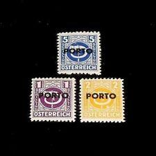 Austria, 1946 Postage Due Overprint Singles, Mh, Nice! Lqqk!