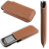 caseroxx Business-Line Case for Nokia 2323 / 2330 in brown made of faux leather