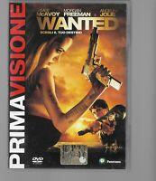 DVD WANTED SCEGLI IL TUO DESTINO, JAMES MCAVOY, ANGELINA JOLIE PRIMA VISIONE