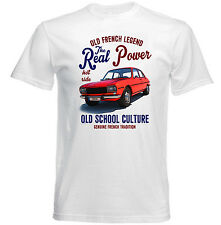 VINTAGE FRENCH CAR PEUGEOT 504  - NEW COTTON T-SHIRT