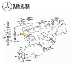 For Mercedes-Benz W123 W126 300CD 300SDL 300TD Steel Fuel Injector Line Genuine