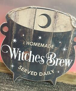 Wooden Plaque - Witches Brew Served Daily Free P&P