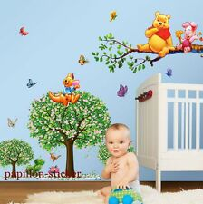 Winnie the Pooh animal papillon arbre baby / kid Chambre Nursery Wall Sticker Decal