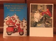 VESPA Scooter CHRISTMAS POSTCARDS Set Of 20 Two Different Germany