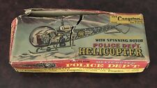 VINTAGE CRAGSTAN  TIN FRICTION POLICE HELICOPTER    BOXED  JAPAN