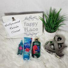 Bath & Body Works Morocco Orchid & Pink Amber Set Body Cream Shower Gel & Mist