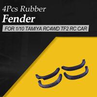 4x Rubber Soft Fender Flares Mudguard for 1/10 Tamiya RC4WD TF2 RC Car Crawler