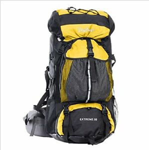 Mountaineering Backpack Mountain Rucksack Hiking For Men Large Yellow Mens Bag