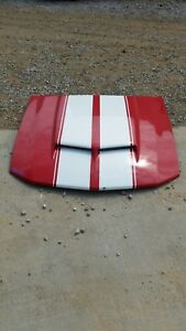 Cervinis Mustang Ram Air Hood 05 06 07 08 09 Ford 4.6L GT RED
