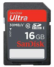 SanDisk Ultra 16 GB SDHC  SD Class 10 for Sony Cyber shot Steady Shot DSC-W310