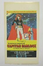 VECCHIO ADESIVO / Old Sticker CARTOON CAPITAN HARLOCK gamberini (cm 7 x 12)