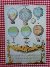 AIR FRANCE - menu - série Les ballons - Calais - 1979 - Paris Damas
