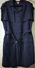 Country Road Ladies Blue Pinstripe Dress Size 14