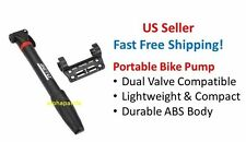 Mini Compact Portable Road Mountain Bike Cycling Tire Air Pump Presta Schrader