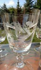 Price Crystal Cut Plant Design w Wafer Stem #PCZ1 Wine Goblet/s (loc-big)