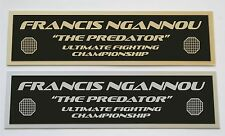 Francis Ngannou UFC nameplate for signed mma gloves photo or case