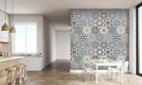 3D Kunst Blume Sechseck 2 Textur Fliese Marmor Tapete Abziehbild Tapete Wandbild