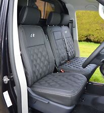VW Transporter T5 Genuine Fit R Line Diamond Quilted waterproof Van Seat Covers