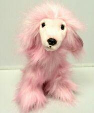 "PURELY LUXE Plush Pink Afghan Hound 10"" Stuffed Animal Dog Aurora World"