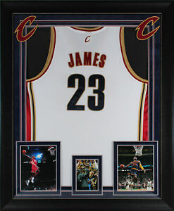 Cavaliers LeBron James Authentic Signed White Framed Jersey UDA #SHO44121